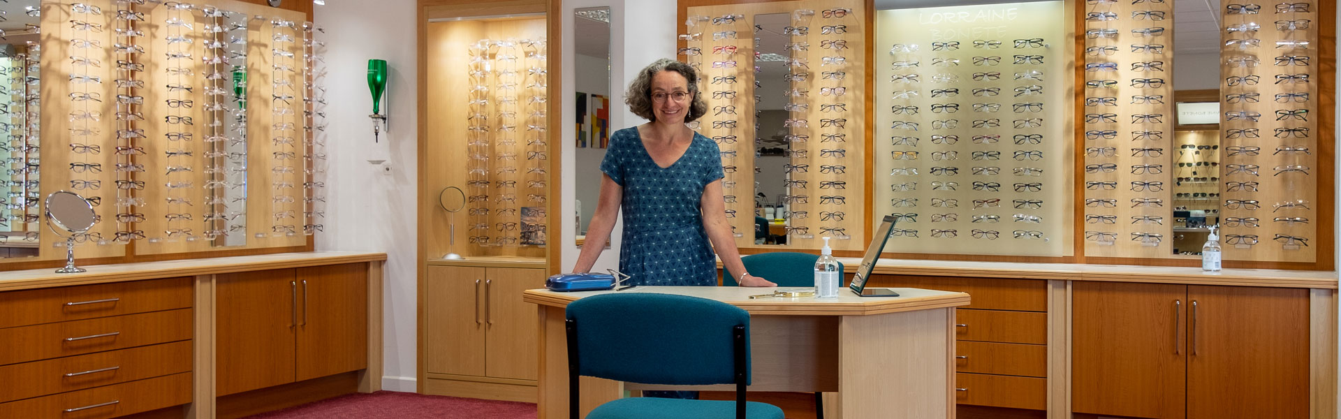 Lorraine Bonete in Opticians Practice